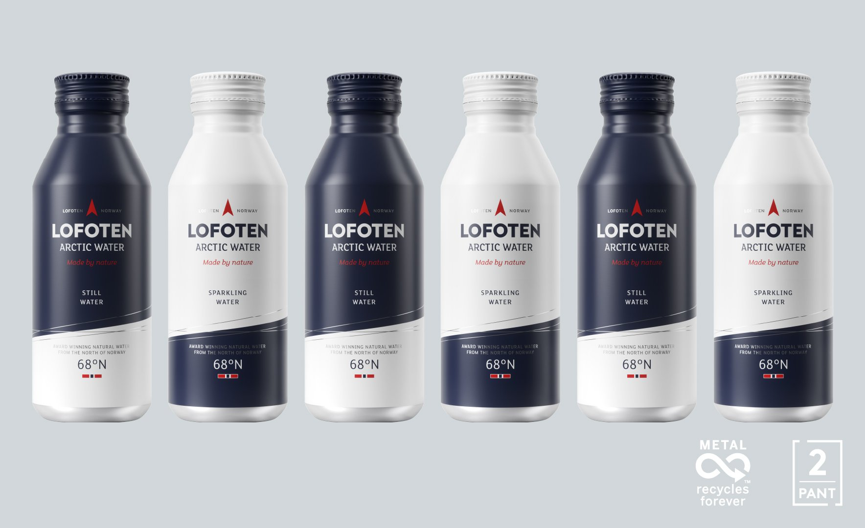 Lofoten Arctic Water aluminium bottles